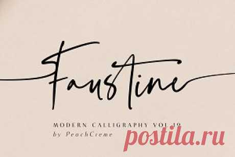 Faustine //Modern Script ~ Script Fonts ~ Creative Market