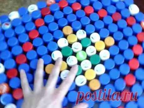 Что можно изготовить из пластиковых крышек ПЭТ бутылок.