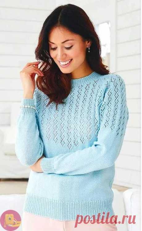 Вяжем нежный свитер из категории Интересные идеи – Вязаные идеи, идеи для вязания