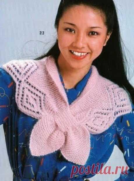 Вязание спицами для женщин Шарф