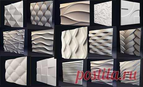 3D панели: модный и уникальный отделочный материал для создания эксклюзивных интерьеров