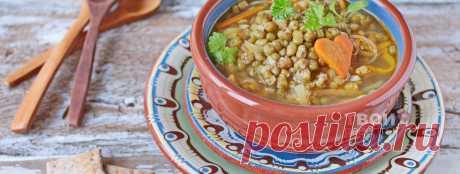 Вегетарианский суп из маша