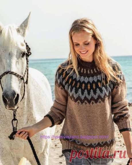 ВСЕ СВЯЗАНО. ROSOMAHA.: Норвежский свитер - лопапейса.