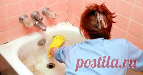 Как очистить ванну добела домашними средствами - Уборка в доме - медиаплатформа МирТесен
