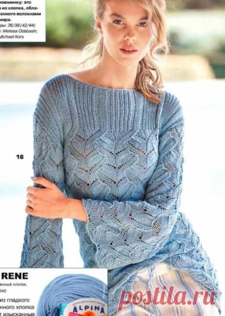 Ажурный пуловер спицами Обсуждение на LiveInternet - Российский Сервис Онлайн-Дневников