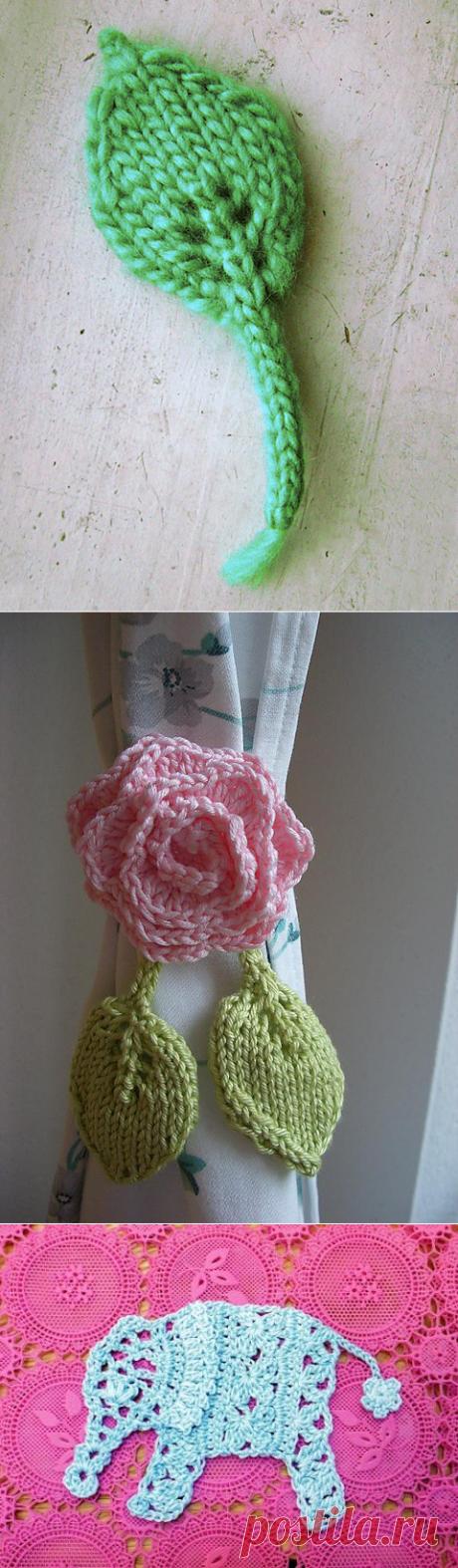 Декоративный шнур с листиком спицами | Мои Петельки