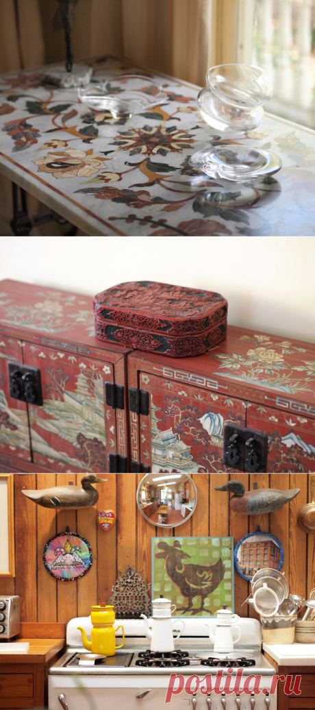 My Houzz: Art and Antiques in a Louisiana Center-Hall Cottage