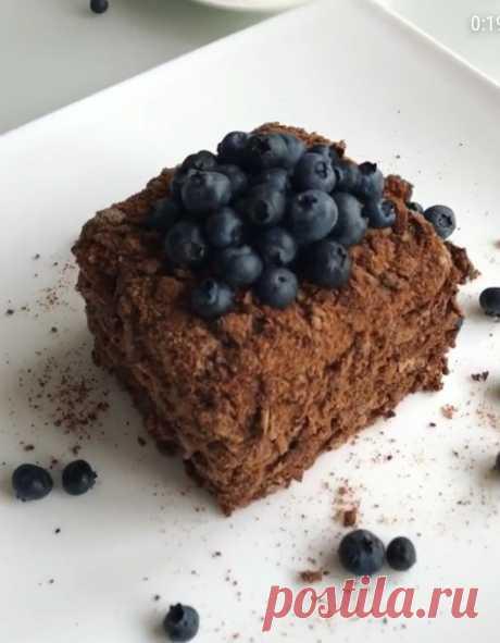 """Диетический торт """"Шоколадный медовик"""""""