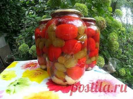 Помидоры маринованные с виноградом на зиму