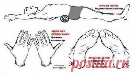 Эффективное упражнение, чтобы убрать живот и выпрямить спину