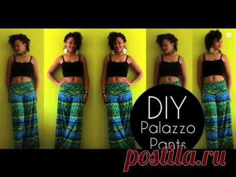 To sew easy trousers quickly and simply