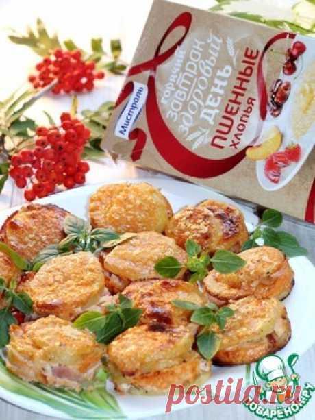 Картофельные стожки с сыром и окороком - кулинарный рецепт