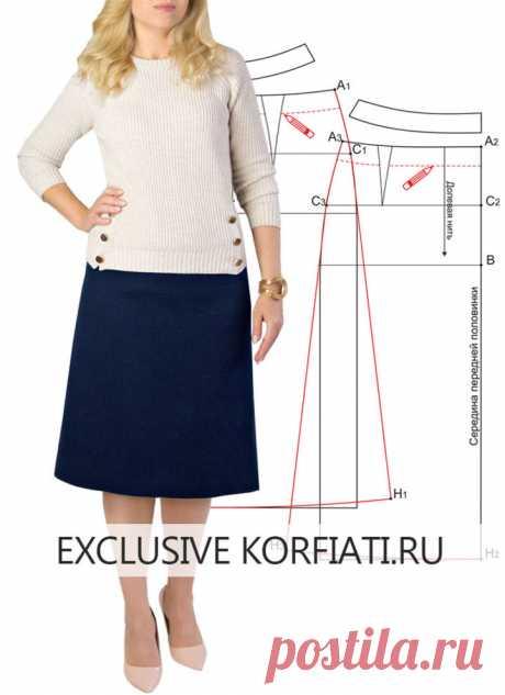 Выкройка юбки А-силуэта от Анастасии Корфиати