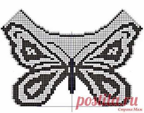 Любительницам филейки привет Девочки, бороздя просторы друга-интернета увидела топ с бабочкой: Знаю, что есть любители бабочек Может кому пригодятся схемки: Легкий топ связан крючком.