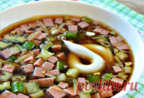 Окрошка с колбасой: любимый холодный суп русской кухни - На Кухне Окрошка с колбасой – холодный суп на квасе, национальный русский суп! Летом этот суп палочка-выручалочка!