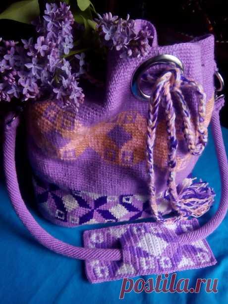 Пляжная сумка-Сиреневая Колумбия.