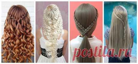 120 причесок с косами 2020 на средние и длинные волосы.