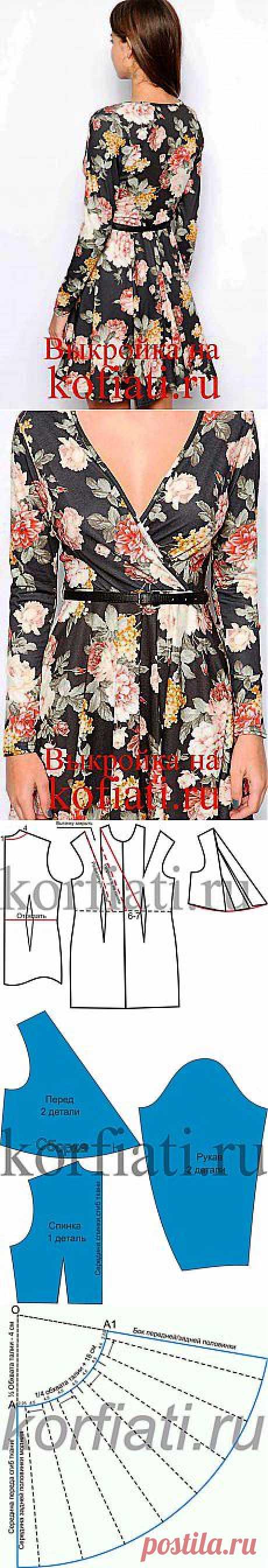 Выкройка платья с запахом - от ШКОЛЫ ШИТЬЯ Анастасии Корфиати