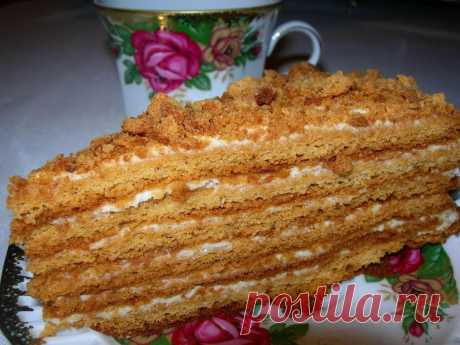 Торт Медовик со сметанным кремом - Выпечка и сладости - Рецепты - Дети Mail.Ru