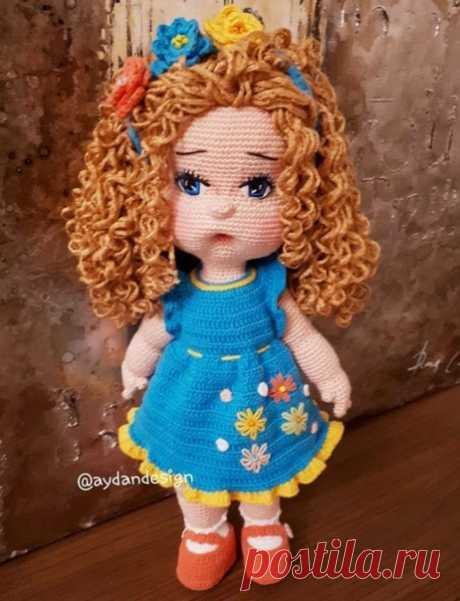 #куклы_девочкиИД Куколка в голубом платье - без перевода Автор - @aydandesign Источник - https://vk.com/wall-144038242_6872