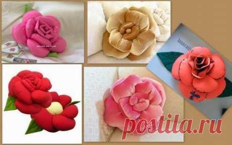 Изумительный цветок-подушка — Сделай сам, идеи для творчества - DIY Ideas