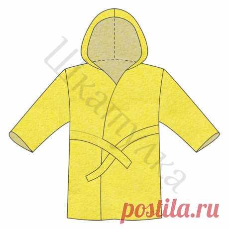 Выкройка детского махрового халата с капюшоном | Шкатулка