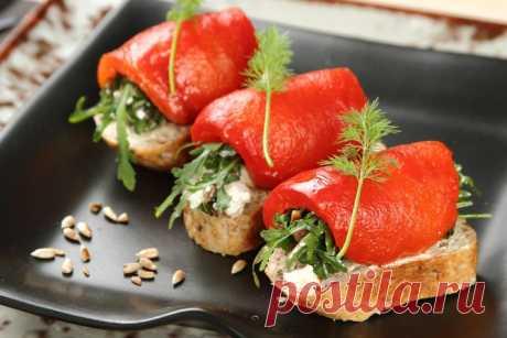 Как приготовить – Домашние бутерброды с перцем и анчоусами – пошаговый рецепт с фото.