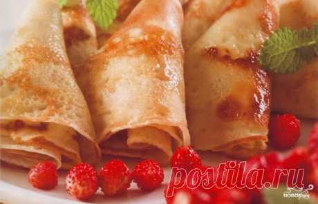 22 tasty recipes of thin pancakes on milk!
