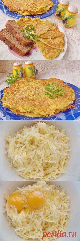 Тёртая картошка с яйцом — быстрый и вкусный завтрак