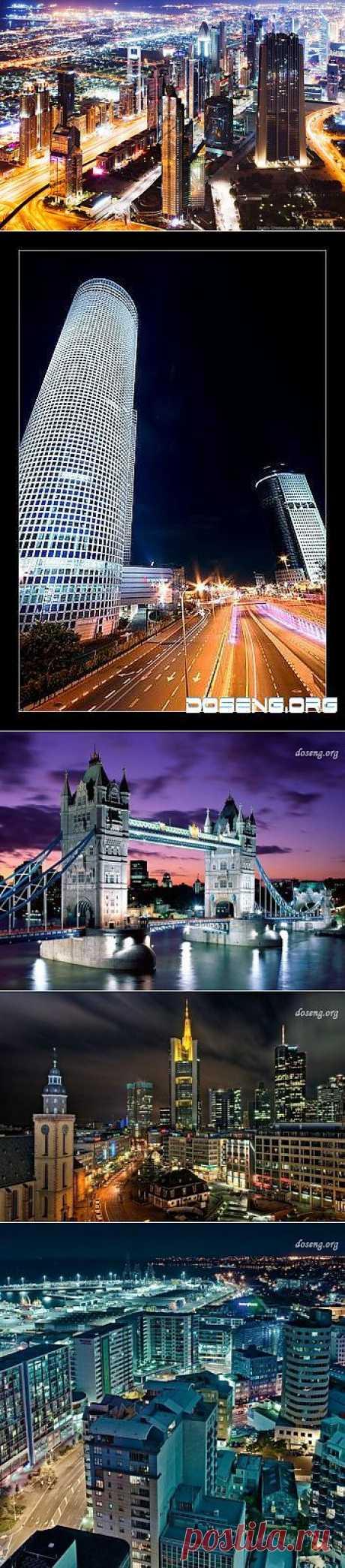 Ночные города (10 фото)