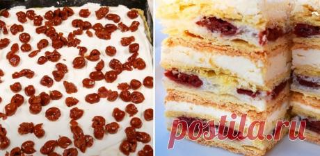 Рецепт ніжного вишневого торта із заварним кремом | Cвоїми руками