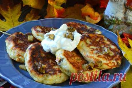 Картофельные оладьи с грибами — Кулинарная страничка