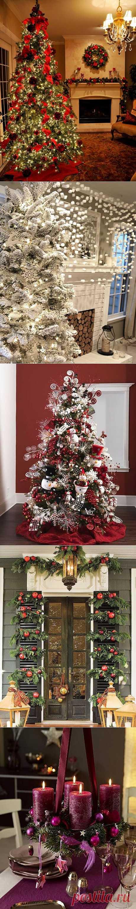 Интерьер дачи на Новый год и Рождество
