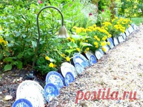 Креативные идеи садовых ограждений для клумб и грядок   Ландшафтная Мастерская   Яндекс Дзен
