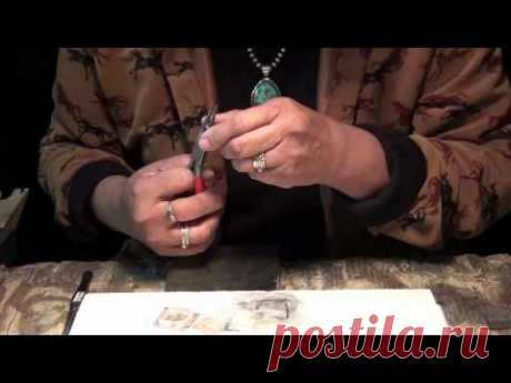 (1) How to Make Genuine Indian Handmade Jewelry-A carved border pendant from the beginning. Part One - YouTube