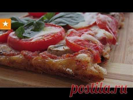 Очень вкусная и быстрая пицца на тесте без дрожжей и яиц. Здоровое питание - YouTube