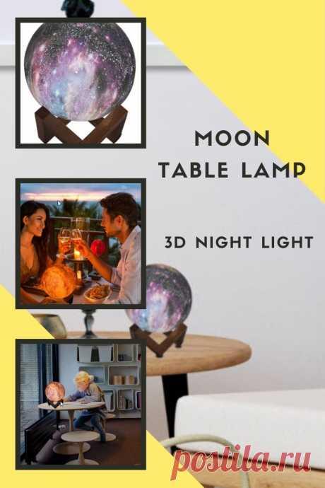 Современный Креативный дизайн Луна настольная лампа окрашенный светодиодный звездное небо 3D ночник для гостиной прикроватный домашний коридор, отель