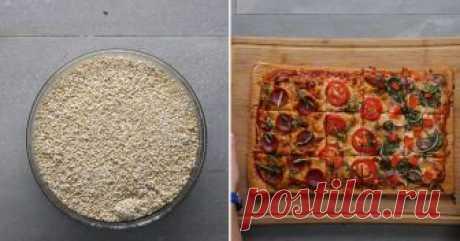 Хрустящая пицца с киноа На 15 порций - ингредиенты, приготовление, видео.