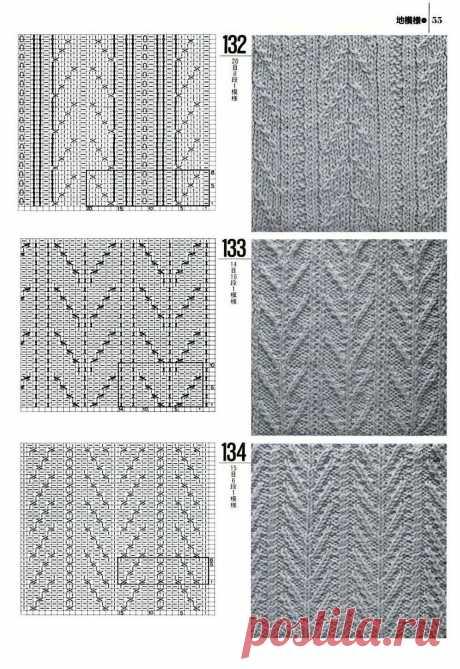 Огромное количество интереснейших узоров для вязания на спицах — Сделай сам, идеи для творчества - DIY Ideas
