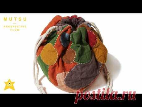 Красочная сумка Кинчаку в стиле пэчворк