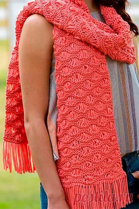 Стиль начинается с шарфа | 1000 идей для вязания спицами | Яндекс Дзен