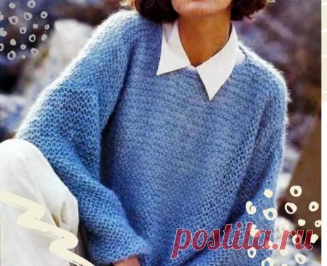 Простой уютный пуловер из мохера. Буду вязать. Вы со мной? | Тепло о вязании | Яндекс Дзен