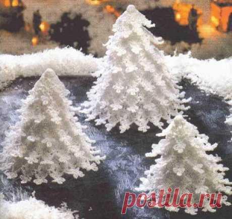 Новогодние елки крючком описание. Связать новогоднюю елку крючком |