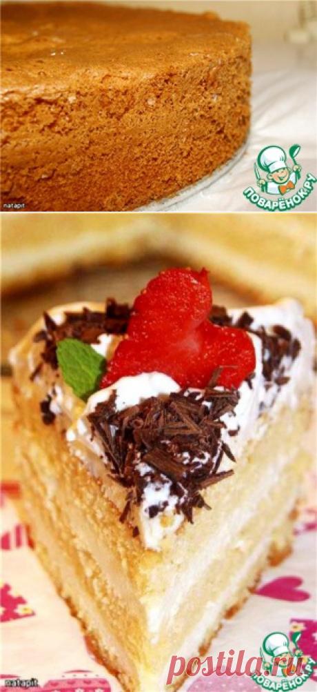 Генуэзский бисквит с белым шоколадом - кулинарный рецепт