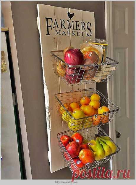 Организуем хранение овощей и фруктов на кухне | Идеи домашнего мастера