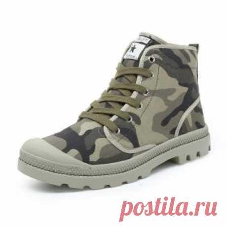 Осенние камуфляжные ботинки, кеды милитари, для мужчин