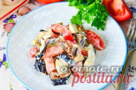 """Салат из баклажанов """"Вкуснотища"""" на каждый день, простой рецепт с фото пошагово"""