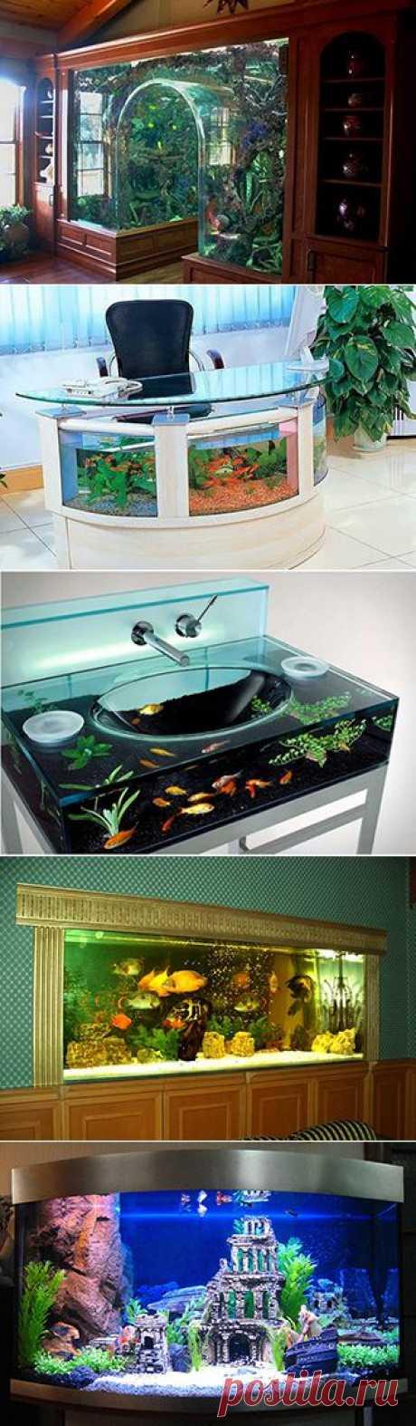 Как сделать встроенный аквариум?