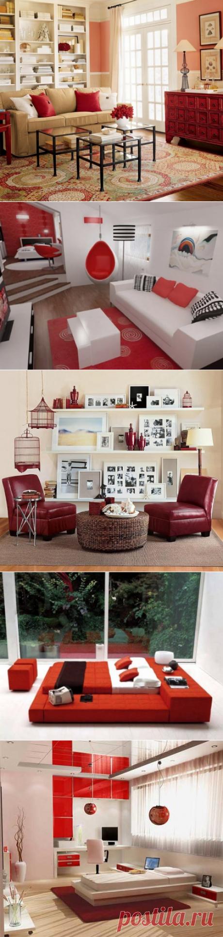 Преображение интерьера с использованием красного цвета