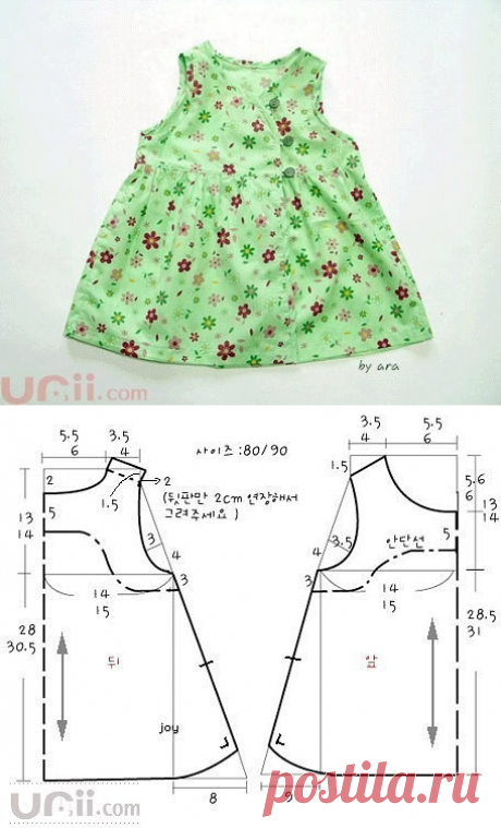 Шьём платья для девочек. Выкройки.